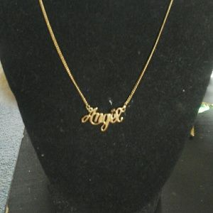 Avon angel  necklace nib